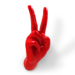 Peace Hand Shaped Wall Hooks And Kitchen Utensils