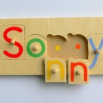 Personalised Wooden Name Jigsaw Puzzle Folksy