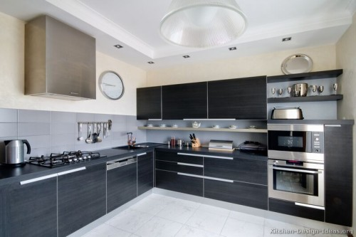 Pictures Kitchens Modern Black Kitchen Cabinets