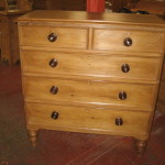 Pine Chest Drawers Having Wooden Knobs Mother Pearl