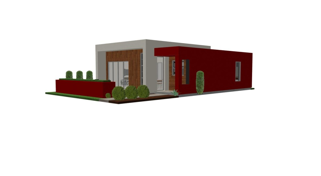 Plan Small House Modern Guest The