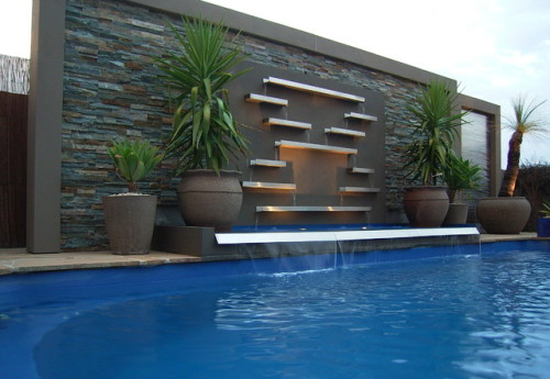 Pool Water Features Contemporary Melbourne Designs