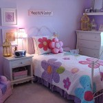 Purple For Teenage Girl Bedroom Floral Bed Sheet And Pillows