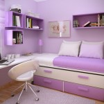 Purple Minimalist Furniture Bed Drawers Small Girls Bedroom