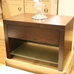 Quartz Low Bedside Table Dark Walnut Chest