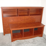Queen Full Bookcase Headboard And Cubby Bench Flickr Sharing