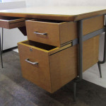 Rare Industrial And Stylish Desk Raymond Loewy For Brunswick Image
