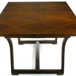 Rare Tommi Parzinger Parquetry Top Mahogany Dining Table Stdibs