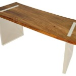 Reclaimed Wood Floating Desk Solid Teak Contemporary Desks
