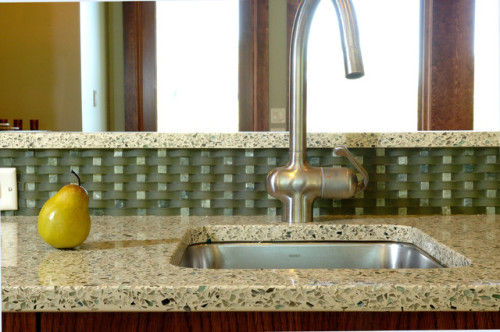 Recycled Glass Contemporary Kitchen Countertops San Francisco
