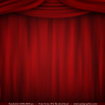 Red Curtain High Resolution Theatre Stage