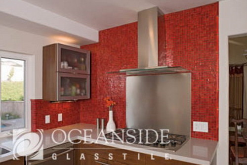 Red Glass Tile Oceanside Glasstile Carlsbad Usa