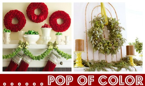 Red Wreaths And Stockings From Bhg