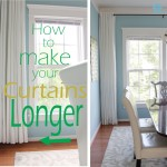 Remodelando Casa How Make Your Curtains Longer