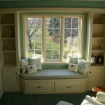 Remove Closets And Build Custom Cabinets Seated Bay Window