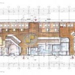 Restaurant And Bar Planning Design The First Colored Ground Plan