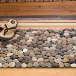 River Stone Bath Mat Design How Place The Right Mats