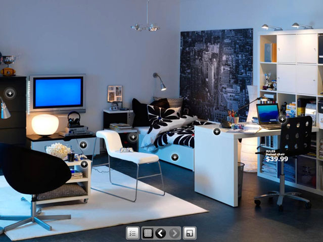 Room Inspirations From Ikea Stylish Dorm For Boys