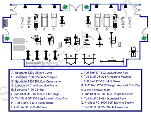 Room Layouts Professional Installation And Delivery Fitness