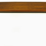 Rosewood Dining Table Polished Stainless Steel Base Stdibs