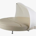 Round Comfortable Outdoor Lounge Bed Degree Adjustable Shade