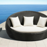 Round Outdoor Lounge Bed For Indulgence Functionality Hspire