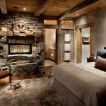 Rustic Bedroom Ideas Decorate Style Stone Wall And Fireplace