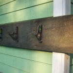 Rustic Coat Rack Wall Hanging Storage Home Decor