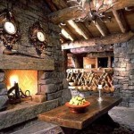 Rustic Stone Fireplace Home Where The Hearth