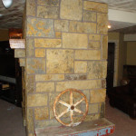 Rustic Stone Fireplace Side View Flickr Sharing
