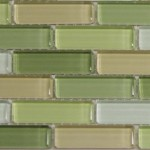 Sample Swatch Spring Subway Green Glass Tile Multi Color