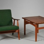 Scandinavian Design Lounge Chair And Dux End Table Lot