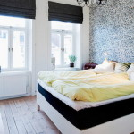 Scandinavian Style Two Duvets One Bed White Yellow Home