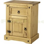 Seconique Corona Pine Bedside Cabinet Furnituredirectuk