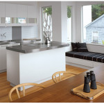 Shaped Kitchen Designs Wood Table