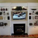 Shelves Around The Fireplace Over Home Improvement Ideas