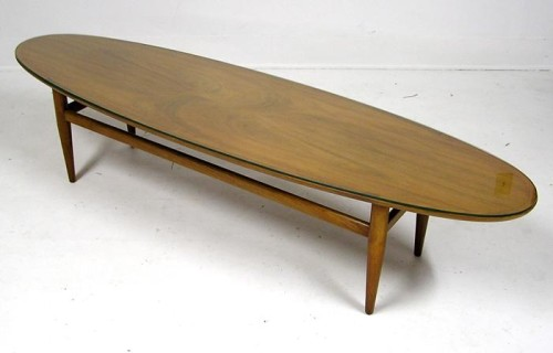 Shop Hoopers Walnut Surfboard Coffee Table Tables