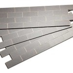 Show Details For Aspect Mini Subway Carbon Stainless Matted Backsplash