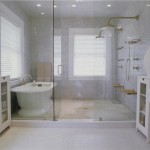 Shower Bath Glass Enclosed House
