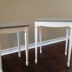 Side Tables Redone Coco And Old White Chalk Paint Dainty