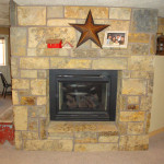 Sided Rustic Real Stone Fireplace Front Side Mission Spring