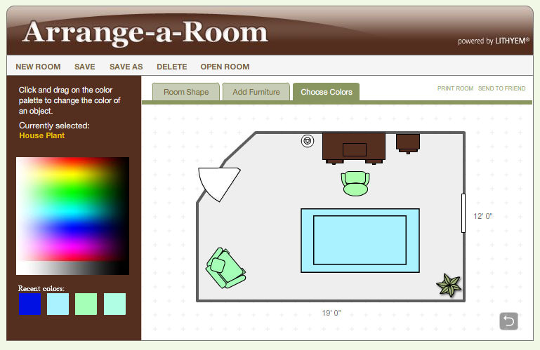 Simple But Effective Free Online Room Design Application