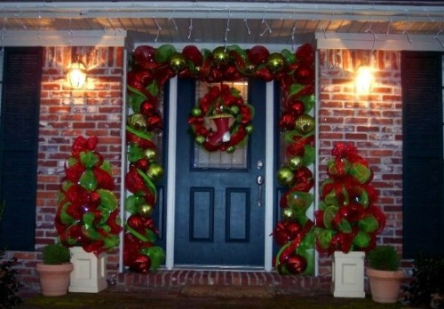 Simple Christmas Door Decorations Trendslidingdoors