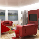Simple Ideas For How Decorate Your Living Room Red Sofa