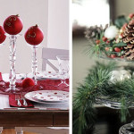 Simple Last Minute Christmas Centerpieces