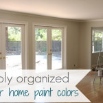 Simply Organized Home Interior Paint Color Palate