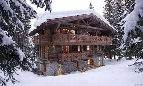 Ski Chalet Resort Winter Escape Elegant The French Alps