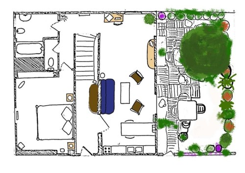 Small Apartment Floor Plans Ground Holiday Gite