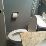 Small Bathroom Door Touches Toilet Picture Caravelle Resort