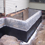 Small Block Foundation Stone Veneer Match Existing Old House